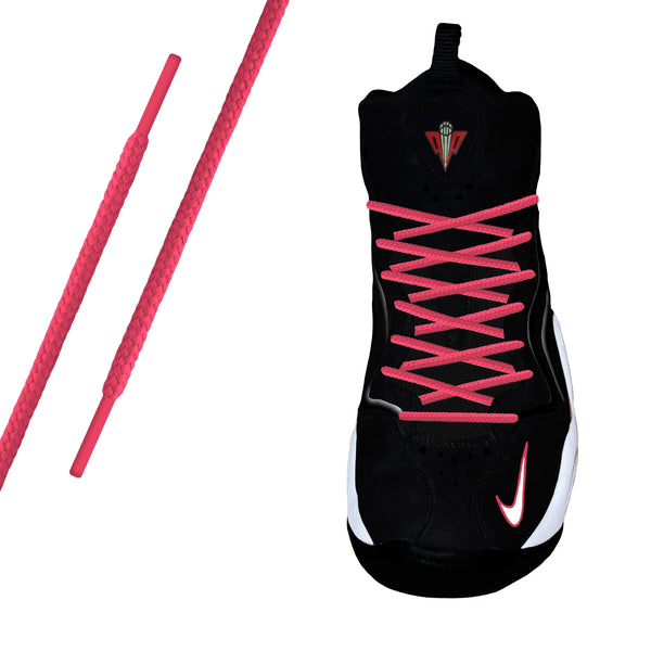 Hot Pink Round Athletic Lace