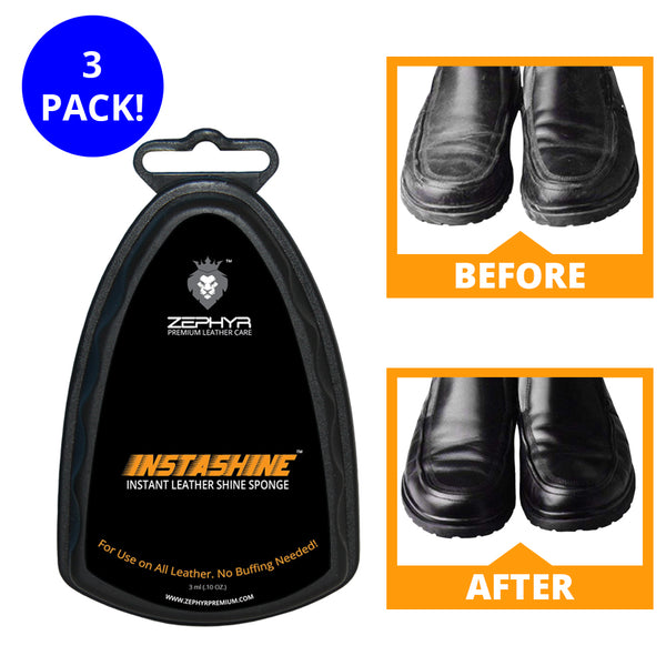 INSTASHINE Instant Leather Shine Sponge - 3 Pack