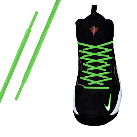 Neon Green Round Athletic Lace