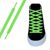 Neon Green Flat Athletic Lace