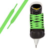 Neon Green Pro Waxed Hockey Skate Lace