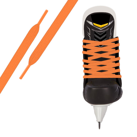 Neon Orange Pro Waxed Hockey Skate Lace