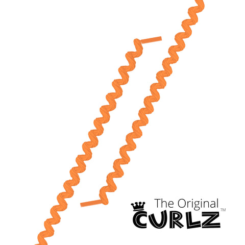 Neon Orange Curlz™ No-Tie Lace