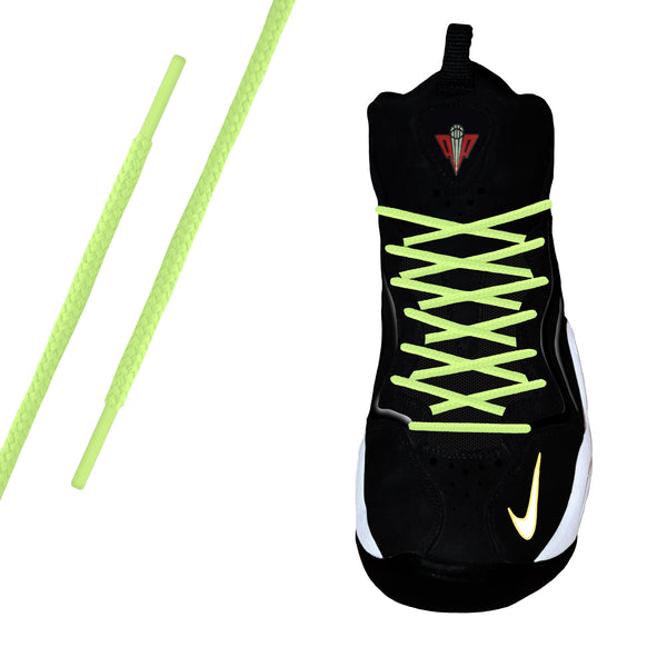 Neon Yellow Round Athletic Lace