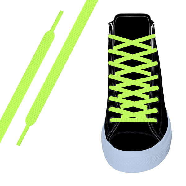 Neon Yellow Flat Athletic Lace