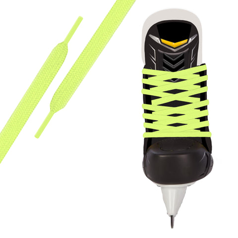 Neon Yellow Pro Waxed Hockey Skate Lace