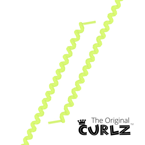 Neon Yellow Curlz™ No-Tie Lace