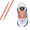 Peach Reflective Oval Athletic Laces