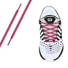 Plum Reflective Oval Athletic Laces