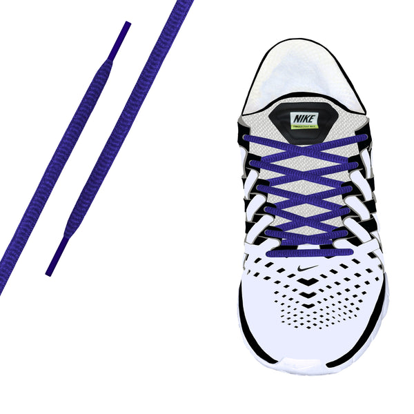 Purple Oval Athletic Lace