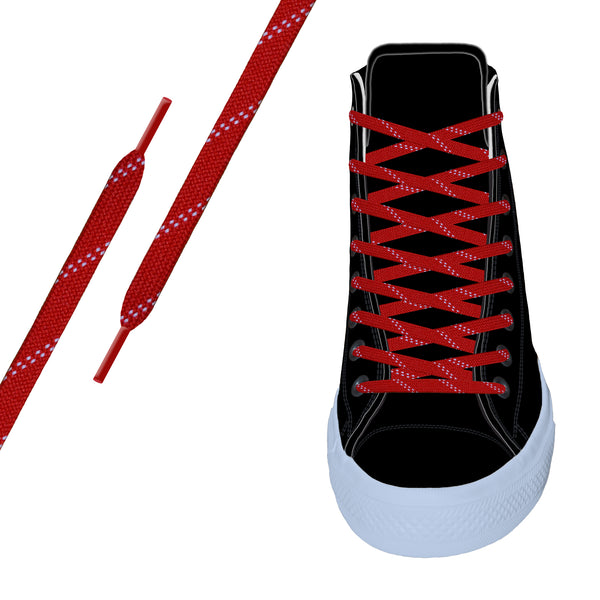 Red/White Elite™ Flat Athletic Lace