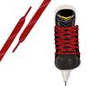 Red/White Pro Waxed Hockey Skate Lace