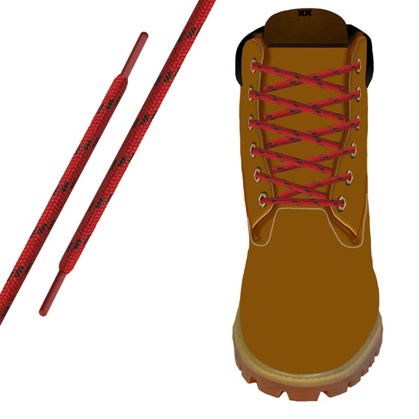 Red/Black Kevlar® Xtreme™  Round Boot Lace
