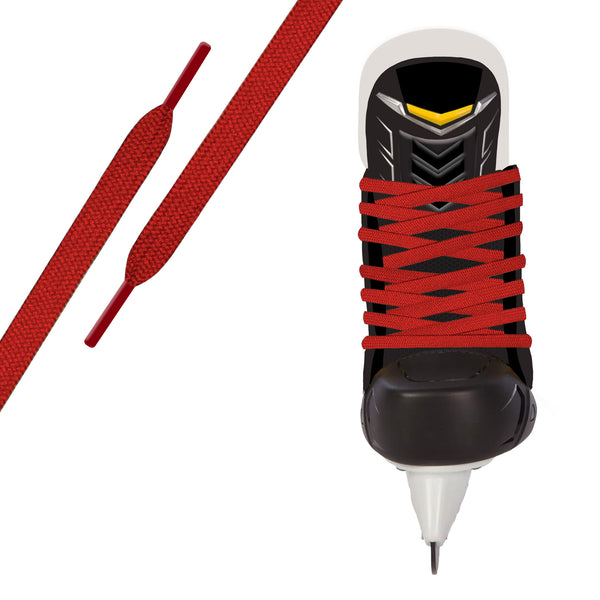 Red Pro Waxed Hockey Skate Lace