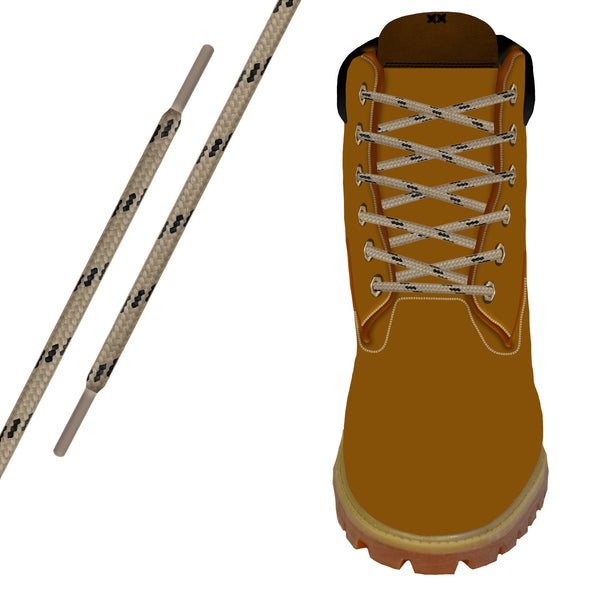Tan/Black Kevlar® Xtreme™ Round Boot Lace