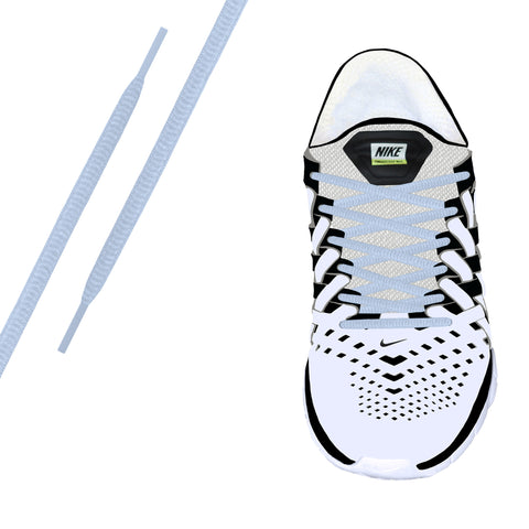 White Reflective Oval Athletic Lace