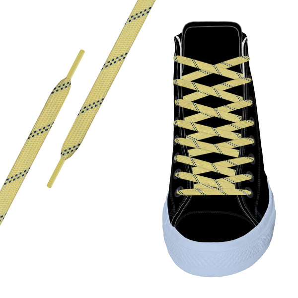Yellow/Navy Elite™ Flat Athletic Lace