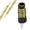 Yellow/Navy Pro Waxed Hockey Skate Lace