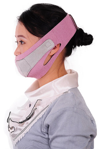 PINK VENTILATED SLIMMING FACE MASK BELT