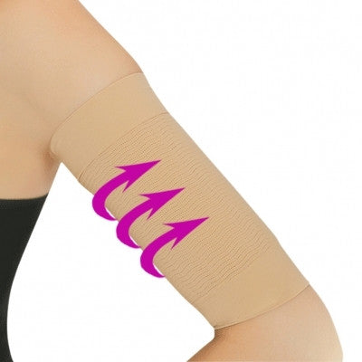 NUDE POLYESTER BURN FAT BELT COMPRESSION ARM SLIMMER