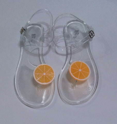 ORANGE JELLY SANDALS