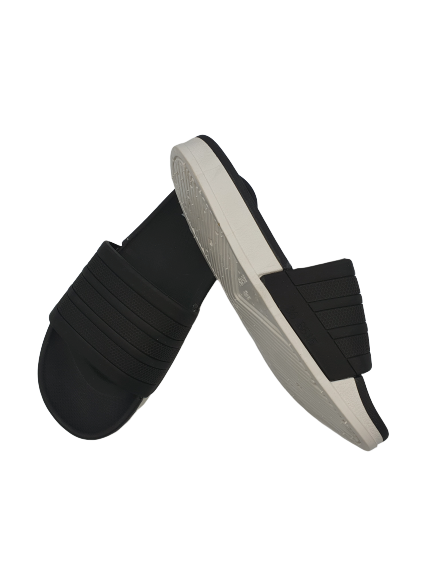 Runningvogue two tone Black and White Sole Slides