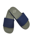 Runningvogue two tone Gray and Blue Sole Slides