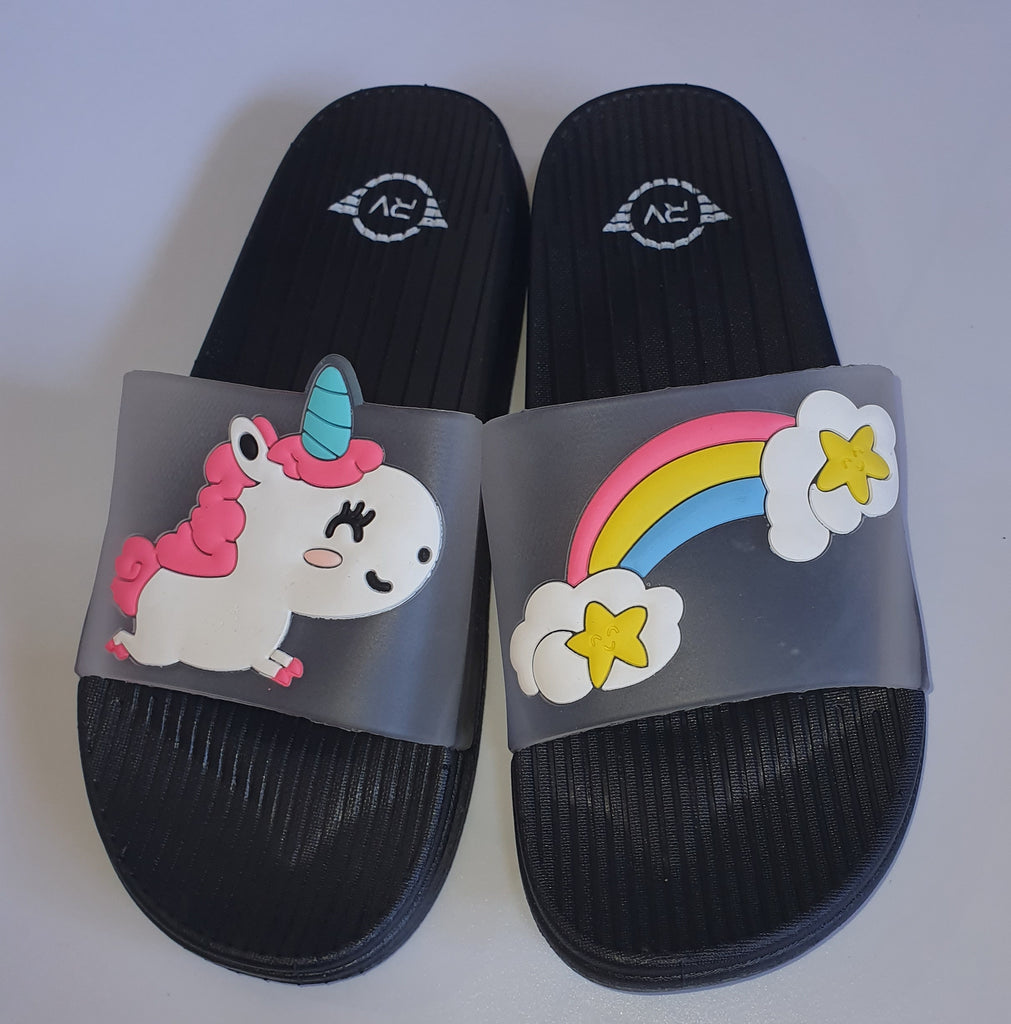 Unicorn Transparent Strap Slides