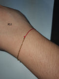 Red String Bracelet with Gold Plated Clasp