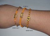 Minimalist Semi Precious Stone or Swarovski with Gold Plated Lucky Charms 3