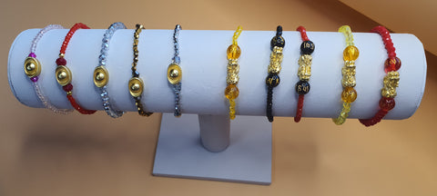 Minimalist Semi Precious Stone or Swarovski with Gold Plated Lucky Charms 7