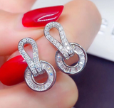ICAHKYED0313 CZ earrings Platinum Plated 3A Zircon earrings for Women