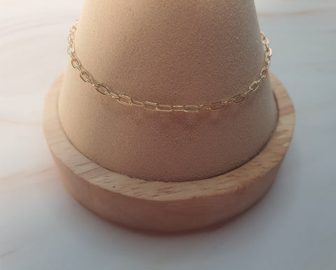 14K Gold Plated Cable O7 Chain