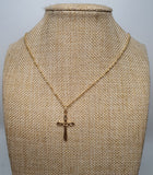 Cross Pendant with 18 inches Gold Necklace