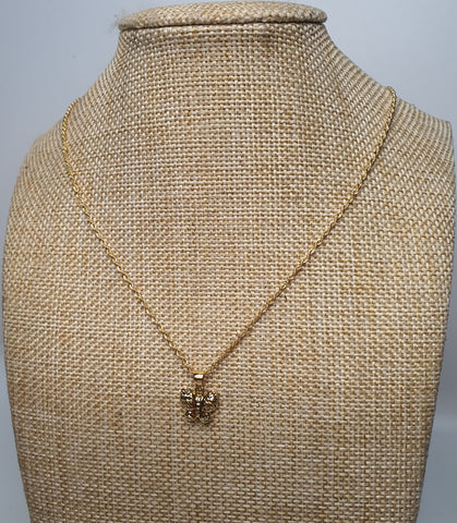 Butterfly Pendant with 18 inches Gold Necklace