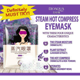 BIOAQUA Lavender Warm Steam Clear the Skin around the eye Eye Mask Hot Compress Fatigue Relief Nourish Essence