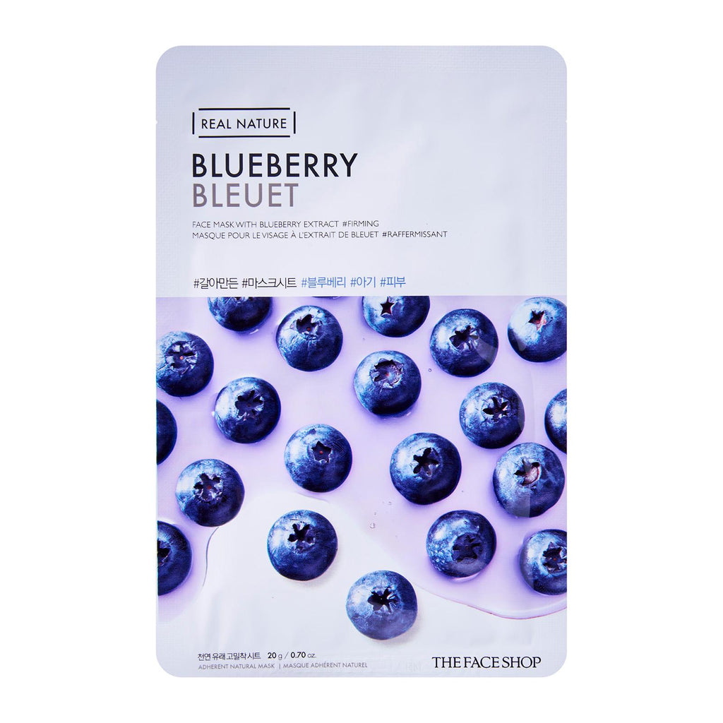 The Face Shop The Real Nature Mask - Blueberry