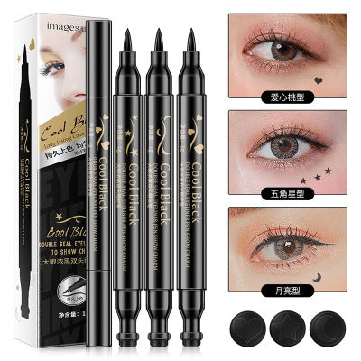 Images Cool Black Double-headed Long Lasting Eyeliner 1g