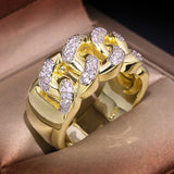 ICAH897 CZ Ring 18k Gold Plated shine 3A Zircon ring for women