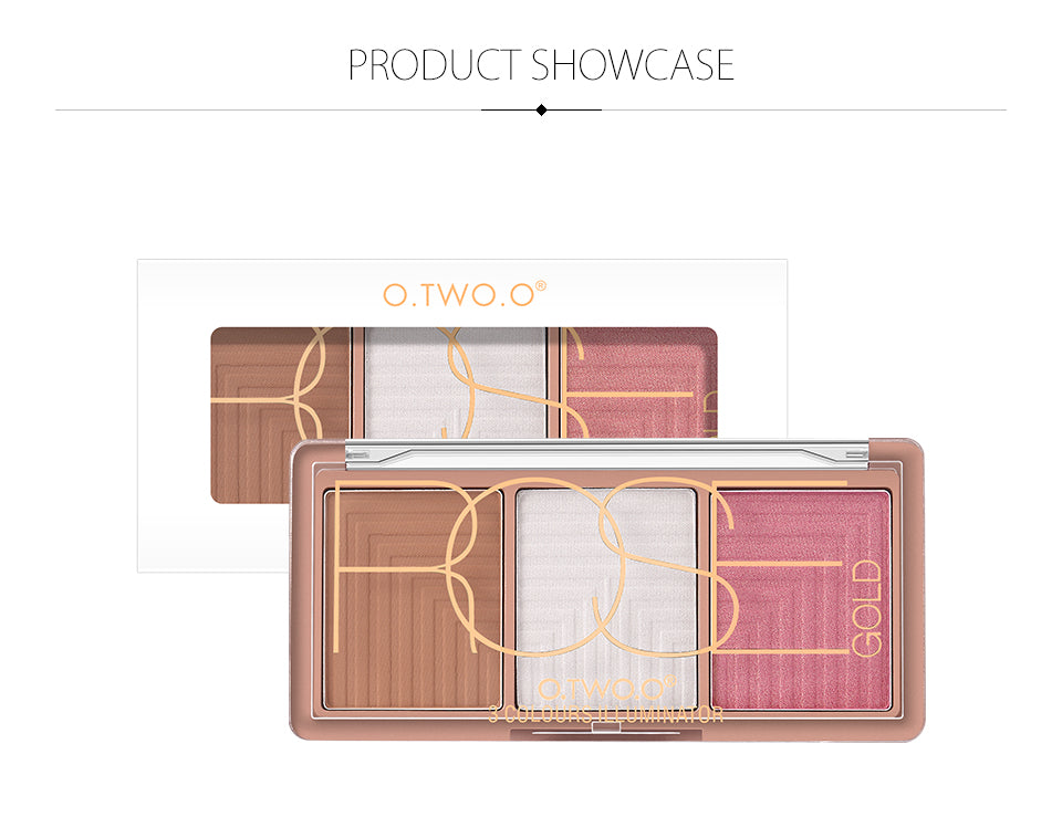 O.TWO.O Rose Face Makeup Base Contouring Palette