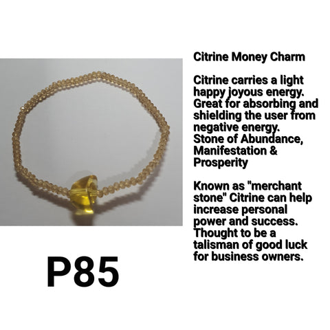 Minimalist Citrine Money Charm