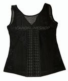 BLACK VEST LONG TORSO 6 HOOKS ADJUSTABLE BODY WAIST TRAINER