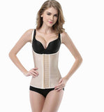 4 BONED NUDE FULL VEST RUBBER WAIST CINCHER