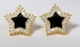 ICAHKYED0364 Star 18k gold plated 3A Zircon Stud earrings for Women
