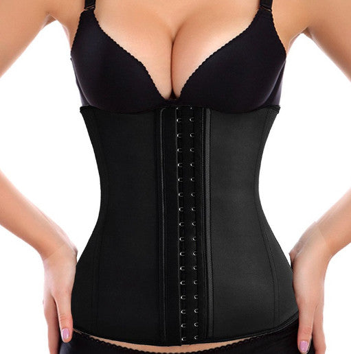 BLACK 9 STEEL BONED LATEX UNDER BUST CORSET