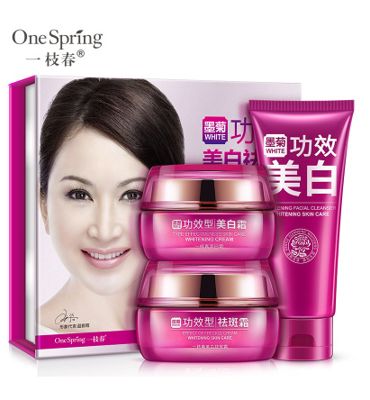 expiry 2019.10.08  Onespring Whitening Freckle Three-piece Facial Care Set Moisturizing Nourishing Skin Care
