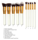 Kabuki 10 Pcs Professional Make Up Brush Set
