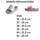 Mirrored Old Rose Metallic Slides