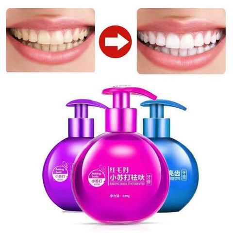 IMAGES Fruit Toothpaste Stain Removal Whitening Baking Soda Toothpaste 200g