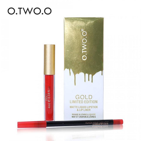O.TWO.O Gold Limited Edition Matte Liquid Lipstick & Lip Liner